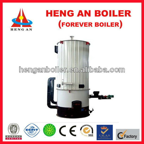small vertical wood fired hot oil heater