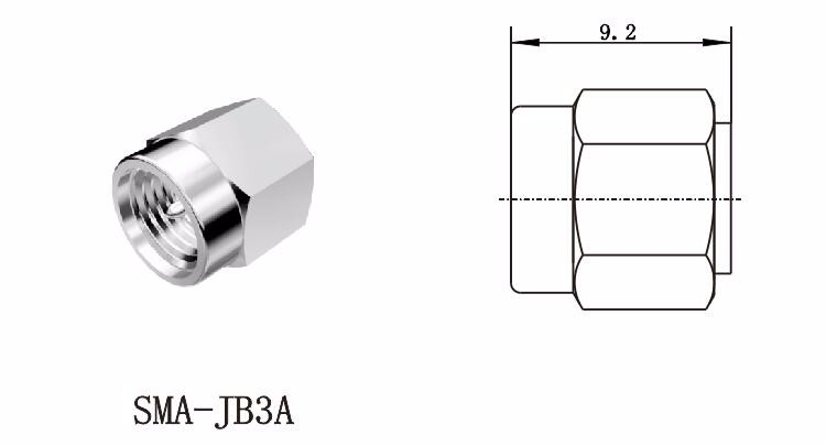 SMA RF Coax Male Plug Connector for Antenna and Microwave