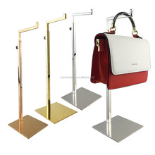 Groothandel Gepolijst Gold Opknoping Bag Hanger Holder <span class=keywords><strong>Display</strong></span> <span class=keywords><strong>Stand</strong></span>