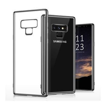 Ultra Dunne Crystal Clear Galvaniseren Frame Cover Case Voor Samsung Galaxy Note 9