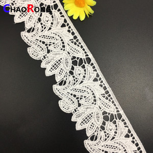 6cm CRT16023 indian bazin riche getzner hand embroidery lace designs for sarees border