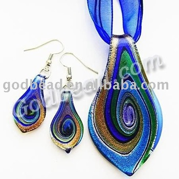6331 blue leaf murano glass pendant sets buy muranomurano glass 6331 blue leaf murano glass pendant sets mozeypictures Choice Image