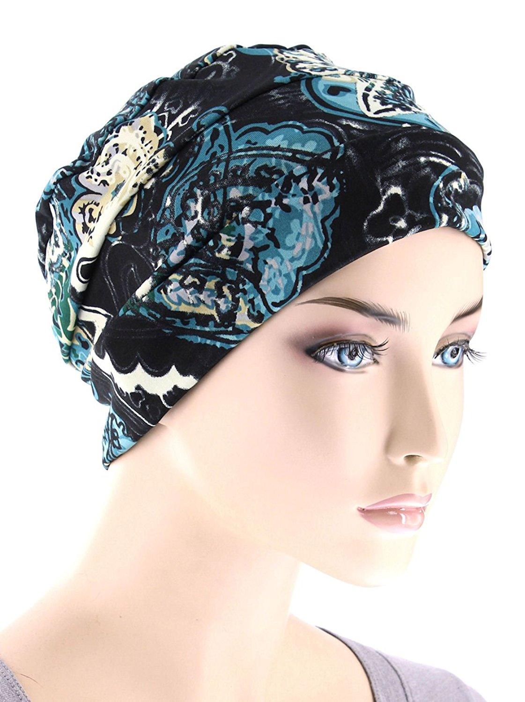 e88281969 Buy Chemo Cap Womens Soft Printed Beanie Sleep Turban Hat Headwear ...