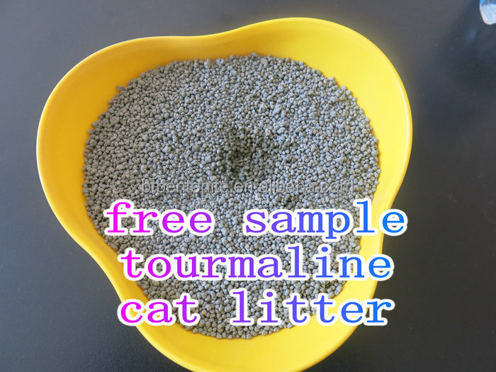 Tourmaline bentonite health care cat litter ligh weight