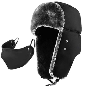 c50617b656a88 Custom Russian Pattern Soviet Style Men Winter Cossack Trooper Faux Fur  Earflap Bomber Trapper Snow Hat