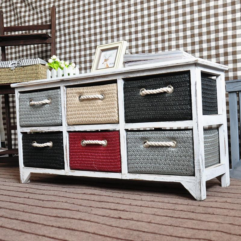 Blanco moderno de madera sal n tv muebles para el hogar con mimbre cajones gabinetes para la - Muebles con cajones de mimbre ...