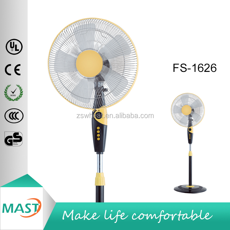16 Inch Electric Stand Fan Air Circulating Strong Wind Powerful Plastic Fan Easy Installation,Chrome CE CB ROHS certification