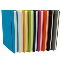 A5 pu leather hardcover dot grid notebook with elastic band