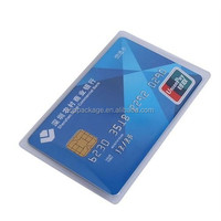 factory price transparent credit/id card sleeve with logo printing