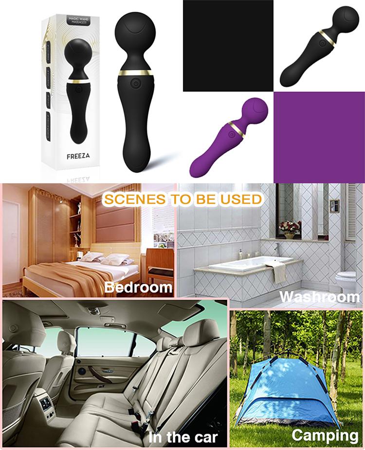 useeker FRIEZA rechargeable powerful mini magic wand full body vibrator massage machine