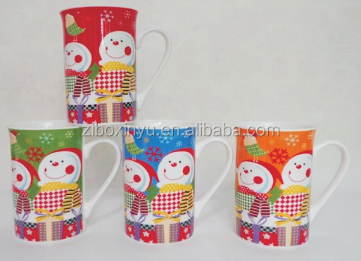 ZIBO XINYU XY-559 Snowman Cute Expression Mug for Christmas