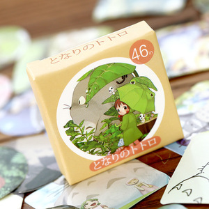 46 Pcs/pack Kawaii My Neighbor Totoro Diy Stickers Decorative Scrapbooking Diary Album Stick Label Decor Paper Party