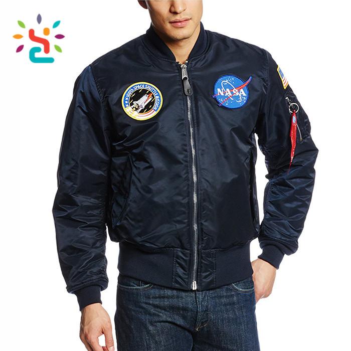 Custom Satin Embroidery Nasa MA1 Bomber Jacket Men American military  jacket, men's clothing, View Custom embroidery jackets, NEW-APPAREL Product