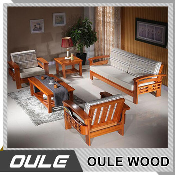 Good Quality Modern Designs Furniture Solid Wood Sofa Set