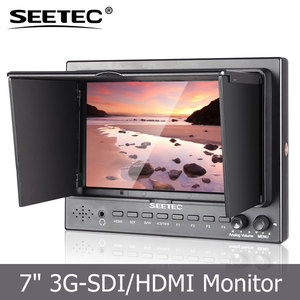 SEETEC 7 inch small tft lcd monitor hdmi sdi input and output F970 battery plate powered professional movie camera slider
