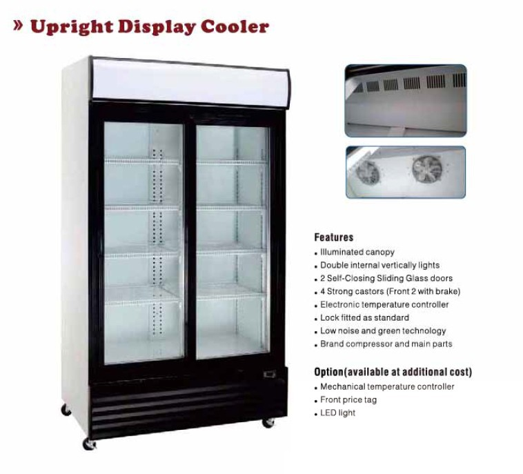 Factory Two Doors Display Fridge Commercial Retail