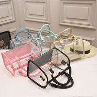 Small wallet within transparent discount designer lady hand bag
