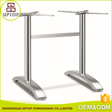 Restaurant furniture accessories Modern 2 stand Cast Aluminum Table Base