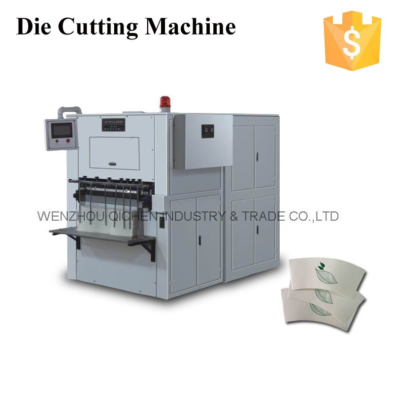 2013 NEW JBZ-A12 Automatic Single pe hot drink paper cup die cutting machine (60ml~330ml) (10% paper saving)