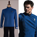 Star Trek Beyond Bones Cosplay Costume Science Officer Uniform Blue Shirt Outfit For Adult Men Halloween