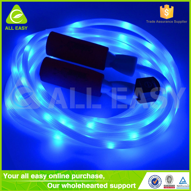 Light up skipping rope images photos pictures a large number of led light up skipping jump rope with foam handle aloadofball Choice Image