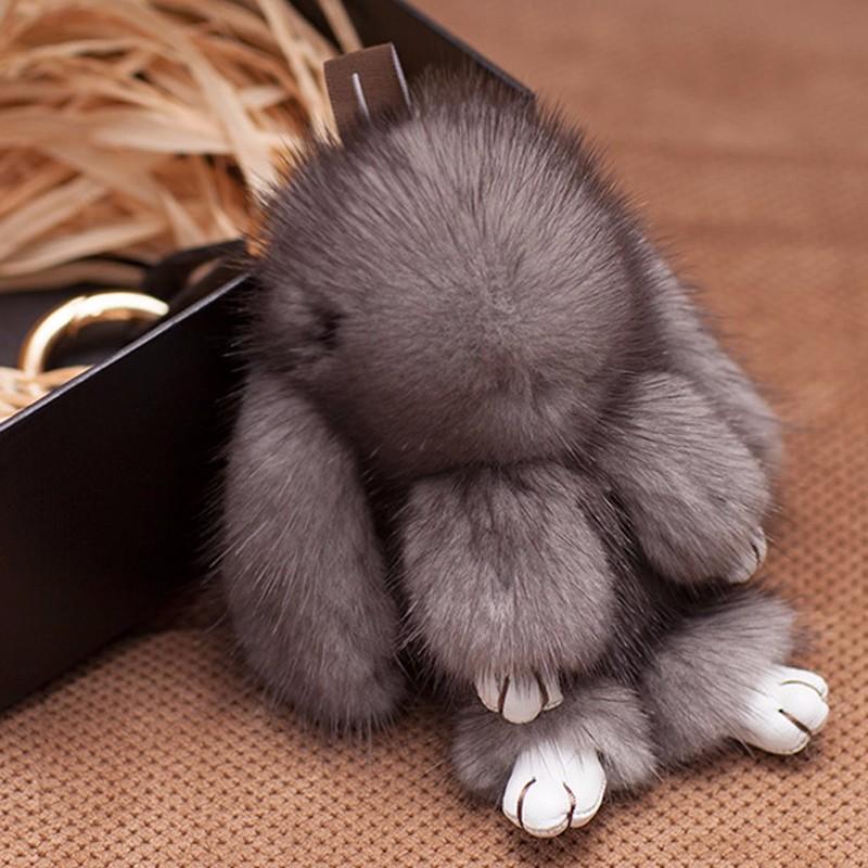 Myfur Luxury Natural Mink Fur Made Copenhagen Rabbit Key Chain Wholesale 6e792022d080