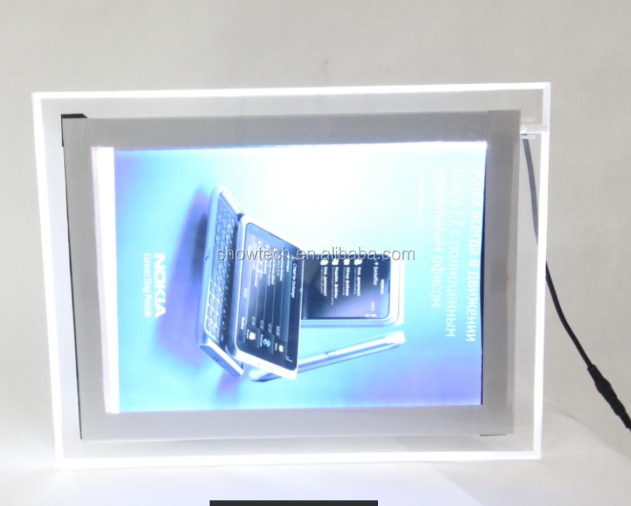 Slim Crystal Landscape Flash Led Lights Box Frame - Buy Indoor Light ...
