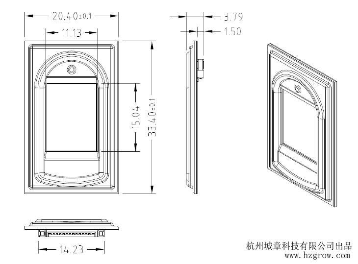 r303 capacitive biometric fingerprint reader   module