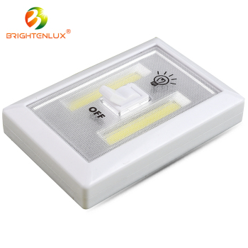 Super Bright Wireless Night 3*AAA 3W Battery Operated Cob led light switch