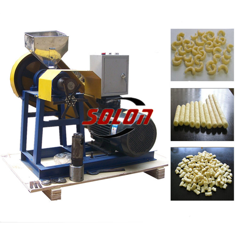 Corn puffing machine / puff snack machine / puffed Corn rice Snacks Food Extruder