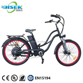 Chinese Custom Cruiser Bicycles Lowrider Ebike 26\'\' Beach Cruiser ...