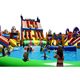 Factory Price Equipment Giant Commerical Inflatable Used Water Park On Land Playground With Pool And Slide For Boat or Lake