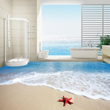 new beach 3d design ceramic floor bathroom tile Aegean Sea newest 3d tile design best price 3d walls tiles