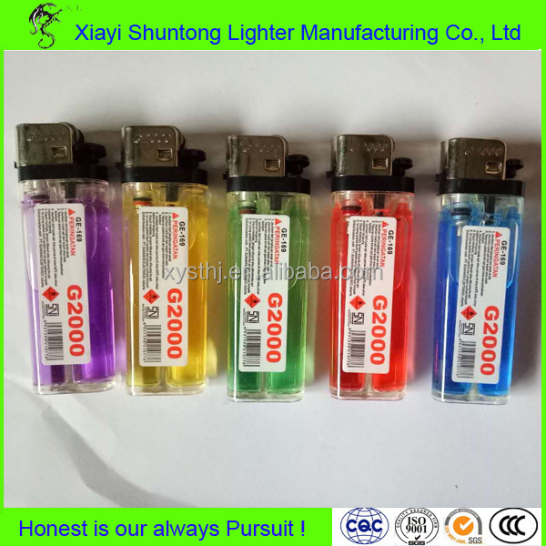 Factory custom bulk cheap plastic electronic butane gas cigarette disposable lighters recycling