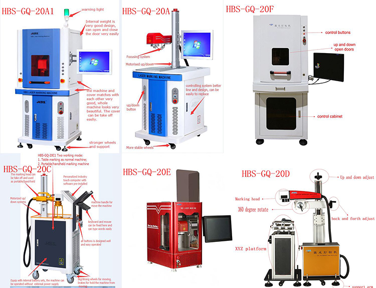 high quality low price 20W fiber laser marking machine for metal and plastic marking