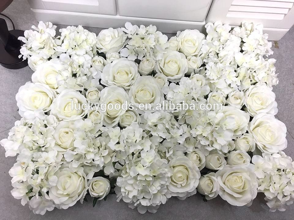 Luckygoods wholesale latest design artificial wedding roll up flower roll up flower wall junglespirit Images