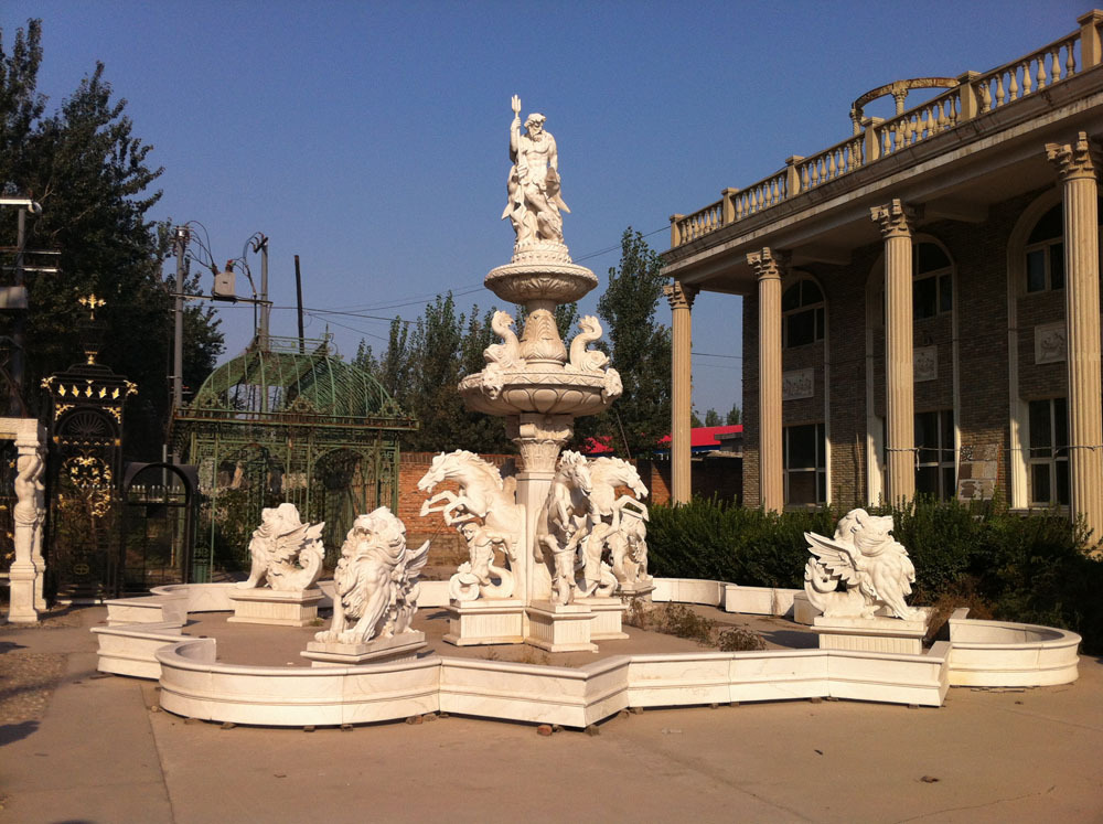 Outdoor Decorative Marble Angel Statue Water Fountain