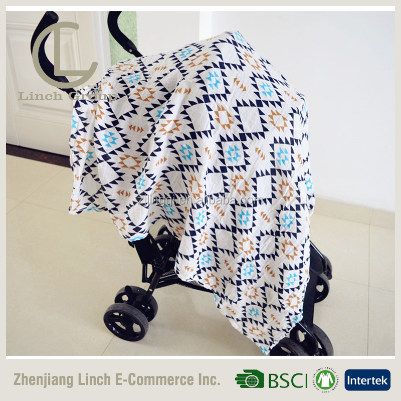 LC B-208 breathable muslin fabric baby car seat canopy baby carrier car seat cover