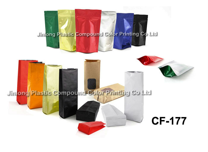 promotion stock coffee bag with zipper