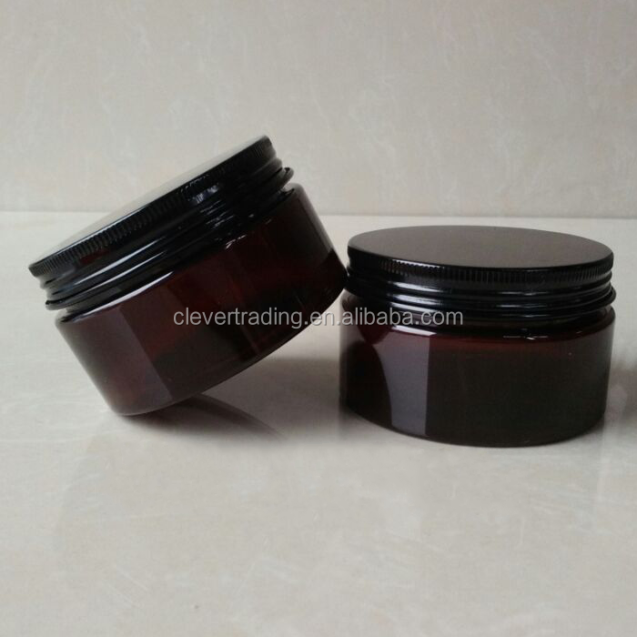 100ml amber cosmetic jars plastic jar for cosmetics packing