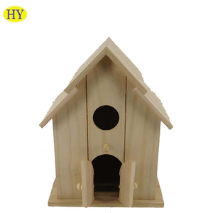 Artificial Dry Wooden Bird Nest,Cheap Chinese Wooden Carved Bird House