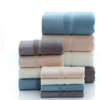SGS certification egyptian bathroom luxury cotton hotel bath towels set