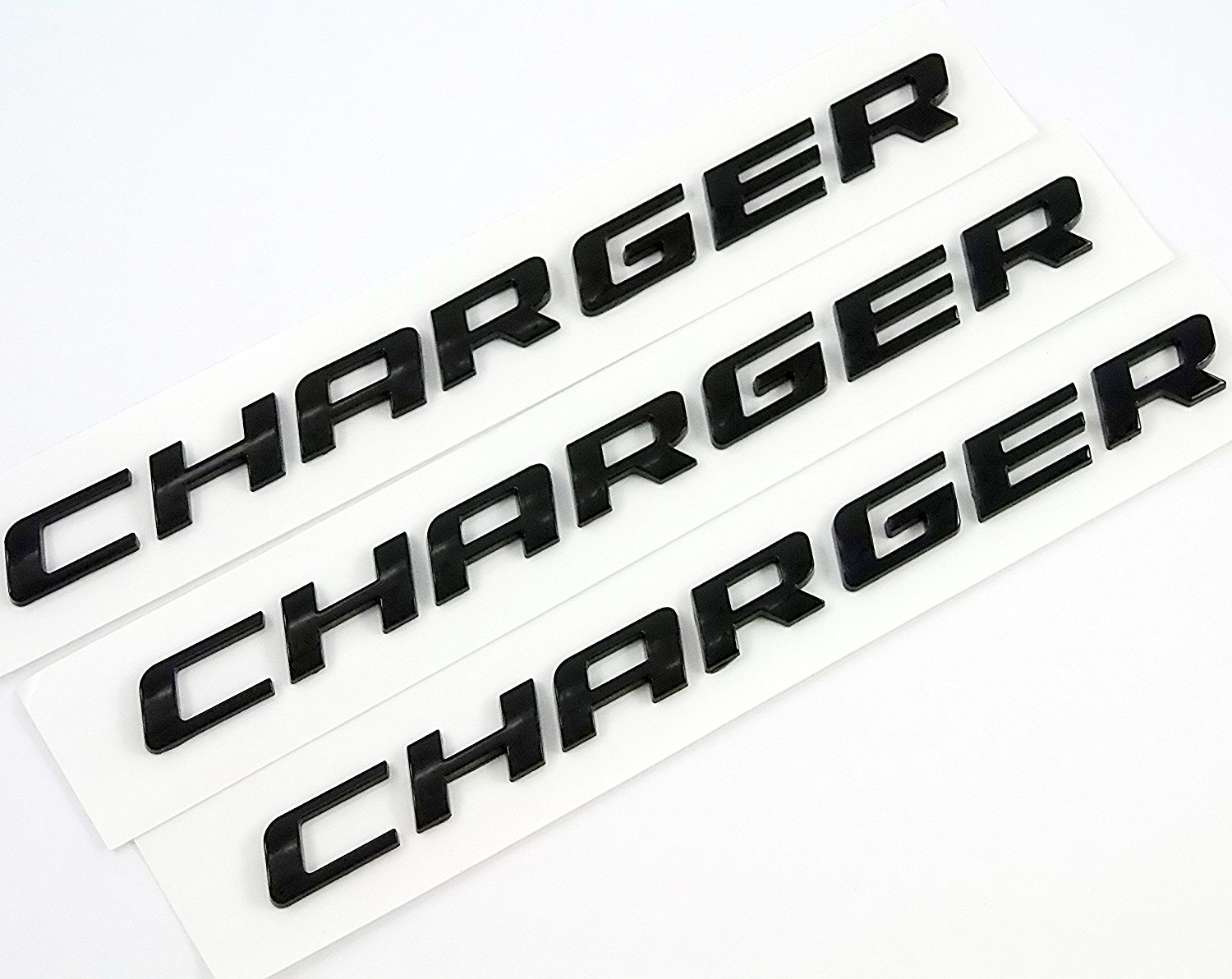 Black Yoaoo-Do Yoaoo/Â 1x Black OEM Original Charger Nameplate Emblem Badge Decal for Dodge Charger Chrysler Mopar Chrome Finish