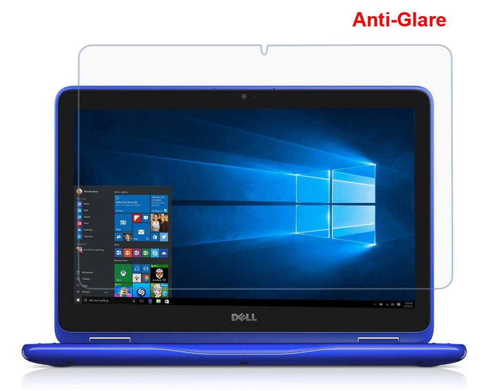 "(2PCS Pack) Dell 3168 3169 3179 11.6"" Anti Glare Matte Whole Screen Protector Cover Skin for New Dell Inspiron 11 3000 3168 3169 3179 i3168 i3169 i3179 2-in-1 11.6"" Touch-Screen Laptop"