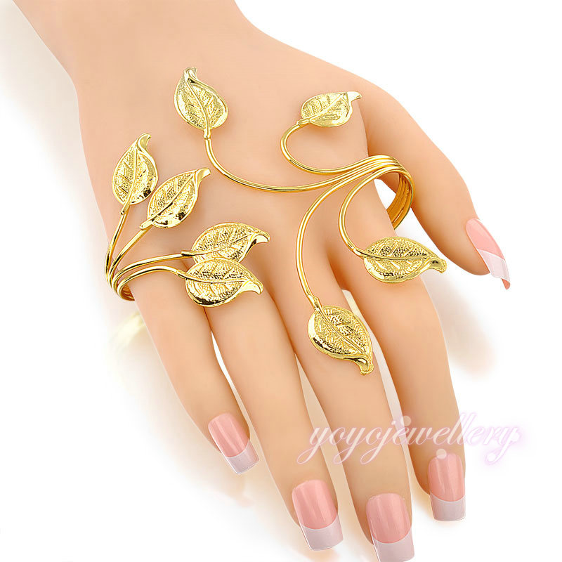 hot fashion trendy jewelry 2015 branch shape palm cuff bangle 18k ...