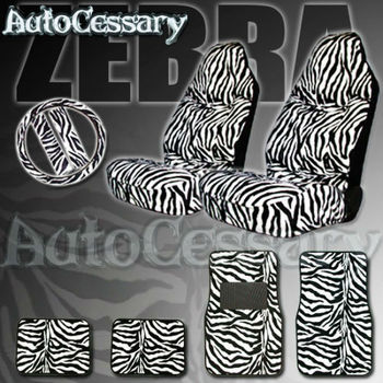Marvelous New 9Pc Safari Zebra Tiger Animal Print Car Mats Seat Covers Buy Polyester Funny Car Seat Covers Funny Car Seat Covers Design Funny Car Seat Covers Machost Co Dining Chair Design Ideas Machostcouk