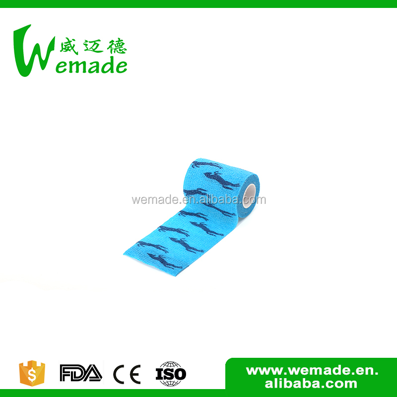 With good sweat resistance colored veterinary medical gauze cotton crepe bandage
