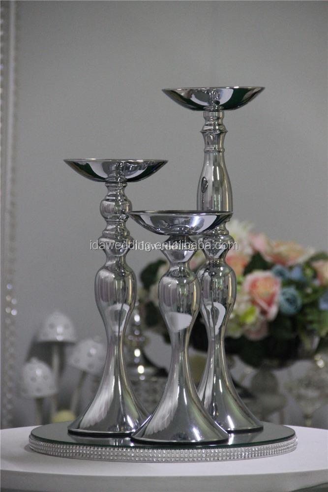 Silver Metal Flower Vaseused Wedding Vasestable Centerpiece Vase