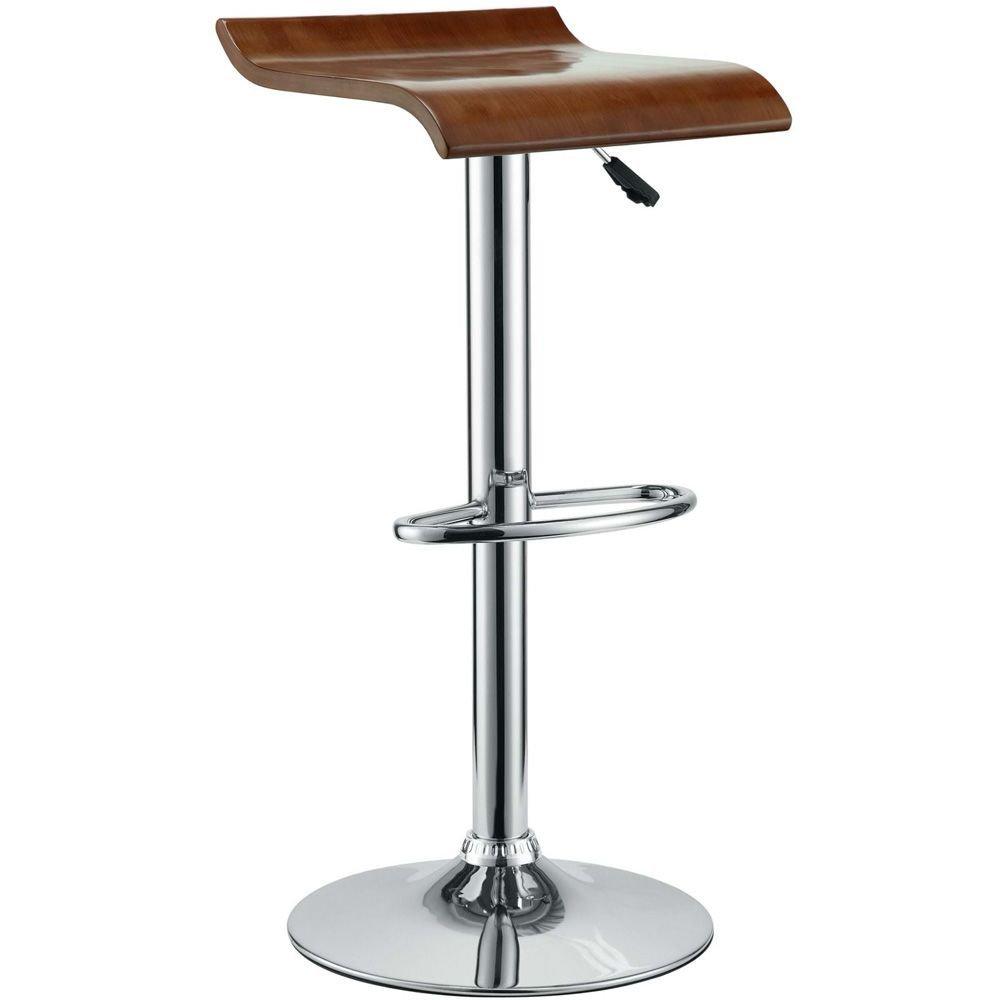 """Bar Stool Oak Dimensions: 14.5""""W x 13.5""""D x 24-32""""H Weight: 27 lbs"""
