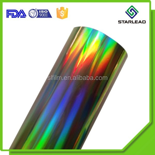 High Quality Metallized PET Film Holographic For Gift Pack
